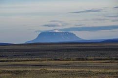 Opinião de Higrhlinds ao vulcão de Snaefell Fotografia de Stock