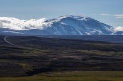 Opinião de Higrhlinds ao vulcão de Snaefell Foto de Stock Royalty Free