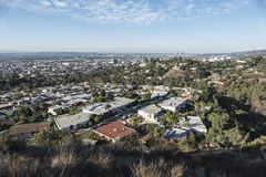 Opinião de Hollywood Hills Fotos de Stock