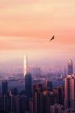 Opinião de Hong Kong Imagem de Stock