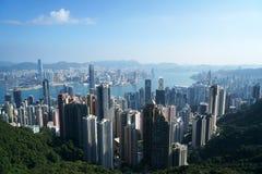 Opinião de Hong Kong Fotografia de Stock