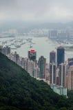 Opinião de Hong Kong da parte superior do parque de victoria foto de stock
