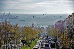 Opinião de Istambul Fotografia de Stock