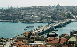 Opinião de Istambul imagens de stock