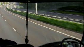 Opinião de janela dianteira do ônibus vídeos de arquivo