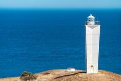 Opinião de Jervis Lighthouse do cabo, Sul da Austrália imagem de stock royalty free