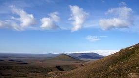 Opinião de Kerlingarfjöll da geleira de Hofsjökull Fotos de Stock