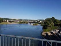 Opinião de Koblenz sobre o rio de Mosel Imagem de Stock Royalty Free
