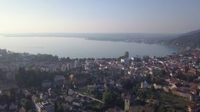 Opinião de konstanz do lago de Bregenz Áustria video estoque