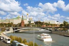 Opinião de Kremlin, Moscovo foto de stock