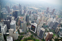 Opinião de Kuala Lumpur da torre do quilolitro fotos de stock