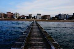 Opinião de Lido di Jesolo do mar de adriático Imagem de Stock