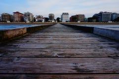 Opinião de Lido di Jesolo do mar de adriático Fotografia de Stock Royalty Free