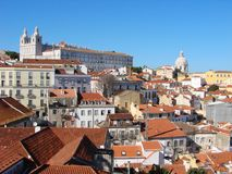 Opinião de Lisboa Foto de Stock Royalty Free