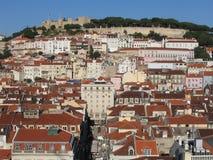 Opinião de Lisboa fotografia de stock