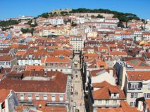Opinião de Lisboa Fotografia de Stock Royalty Free