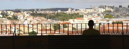 Opinião de Lisboa Imagens de Stock