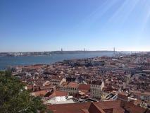 Opinião de Lisboa Fotos de Stock Royalty Free
