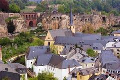 Opinião de Luxemburgo - de Grund Imagem de Stock