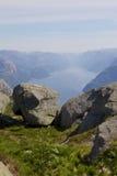 Opinião 018 de Lysefjord Fotos de Stock