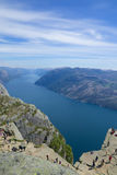 Opinião 031 de Lysefjord Foto de Stock