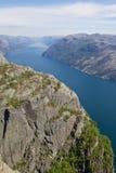 Opinião 073 de Lysefjord Fotos de Stock Royalty Free