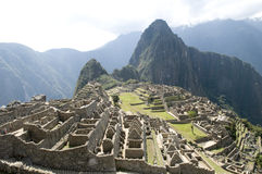 Opinião de Machu Picchu fotos de stock royalty free