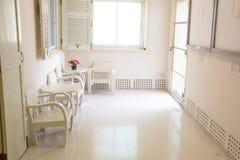 Opinião de madeira branca do projeto da mobília Fotografia de Stock Royalty Free