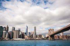 Opinião de Manhattan Imagens de Stock