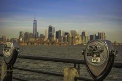 Opinião de Manhattan Imagens de Stock Royalty Free
