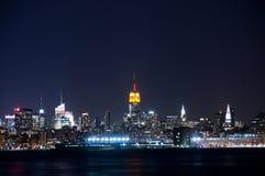 Opinião de Manhattan da cidade de Jersy Fotografia de Stock