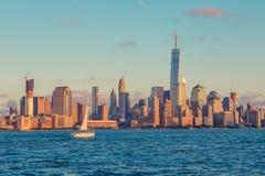 A opinião de Manhattan de hoboken Imagem de Stock