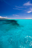 Opinião de mar do Cararibe no paraíso Imagens de Stock