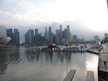 Opinião de Marina Bay Singapore na tarde imagem de stock