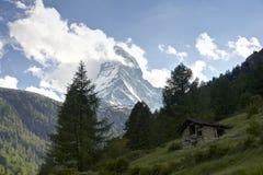 Opinião de Matterhorn de Zermat Foto de Stock