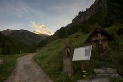 Opinião de Matterhorn de Zermat Imagens de Stock