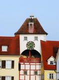 Opinião de Meersburg Fotos de Stock Royalty Free