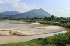 Opinião de Mekong River Fotos de Stock Royalty Free