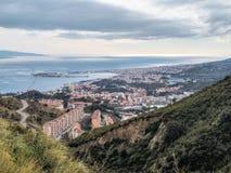 A opinião de Messina imagens de stock