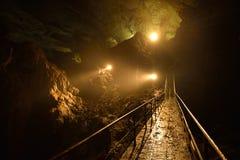 Opinião de Mistical em uma caverna Imagens de Stock