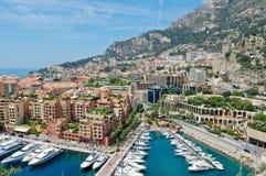Opinião de Monaco imagem de stock royalty free