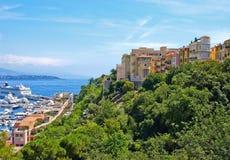 Opinião de Monaco fotografia de stock