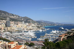 Opinião de Monaco Fotos de Stock Royalty Free
