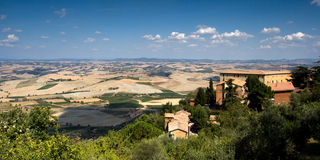 Opinião de Montalcino Foto de Stock Royalty Free