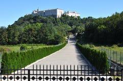 Opinião de Monte Cassino da parte externa fotografia de stock