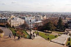 Opinião de Montmartre Imagem de Stock