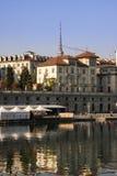 Opinião de Murazzi - Turin Fotografia de Stock Royalty Free