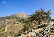 Opinião de Mycenae, Greece Imagens de Stock