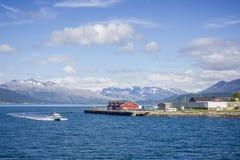 Opinião de Noruega Fotografia de Stock
