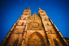 Opinião de Nuremberg, uma cidade da cidade em Franconia no estado alemão de Baviera fotos de stock royalty free